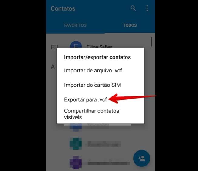 transferir-contatos-exportarvcf