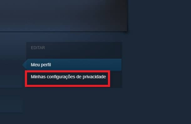 configurações do steam