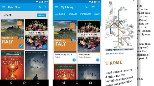 Google Play Books manga apps for Android