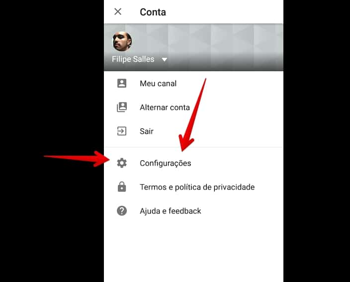 youtube-para-android-configuracoes