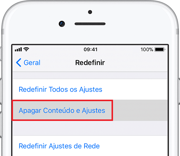 apagar dados do iphone