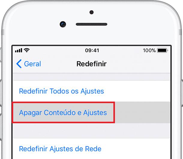 apagar dados do iphone