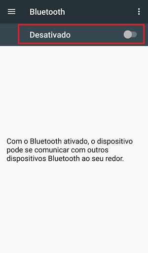ativar bluetooth