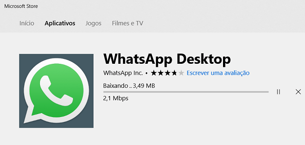 baixar whatsapp no windows 10