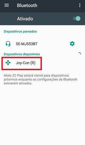 bluetooth no android