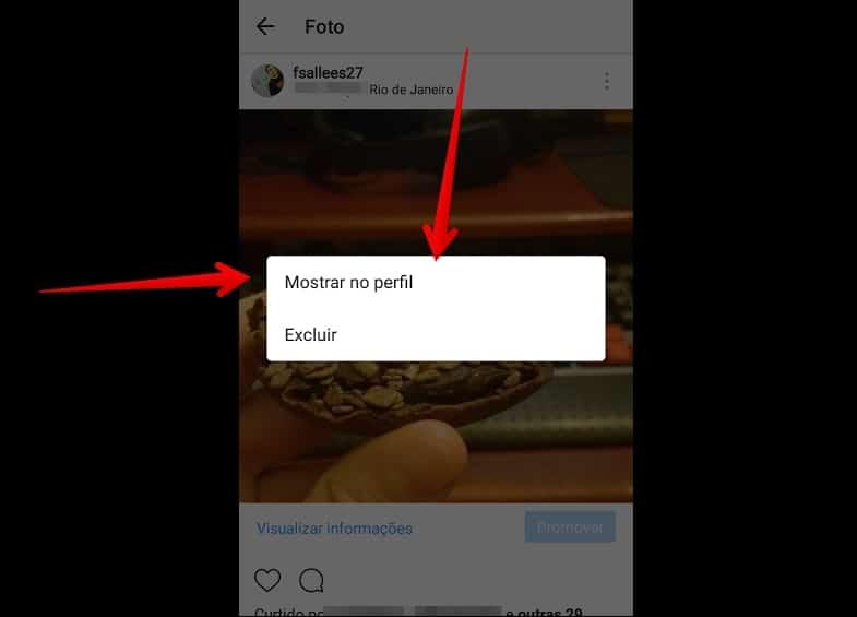 desarquivar foto no instagram