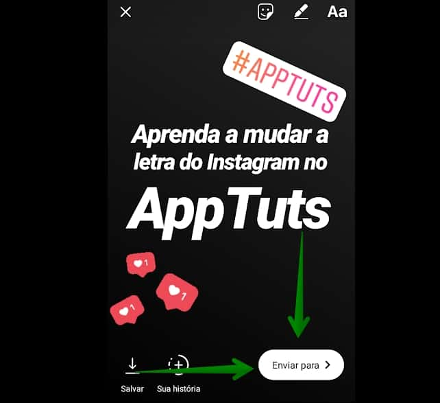 mudar-letra-nos-stories-do-instagram-enviar