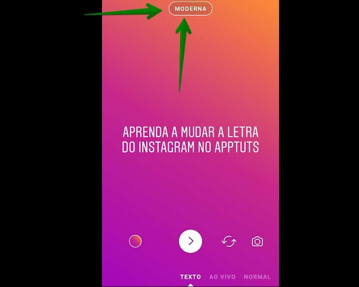 mudar-letra-nos-stories-do-instagram-moderna