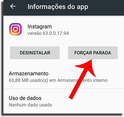 repostar stories do instagram parada