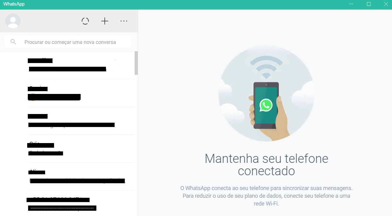 whatsapp no windows