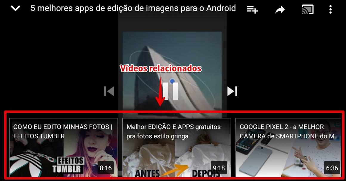 youtube-para-android-relacionados
