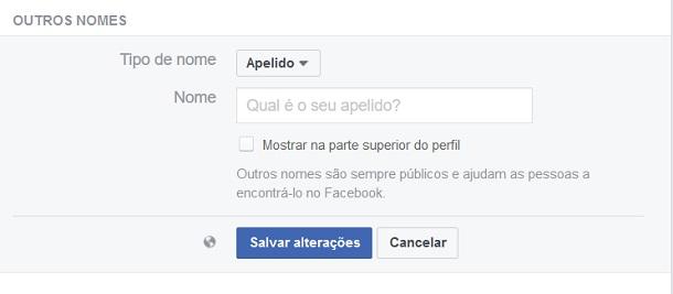 apelidos do facebook