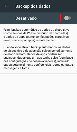 backup de dados