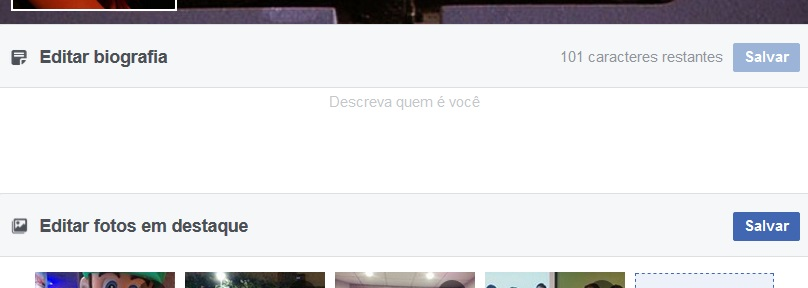 biografia do facebook