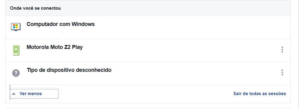 conexões do facebook