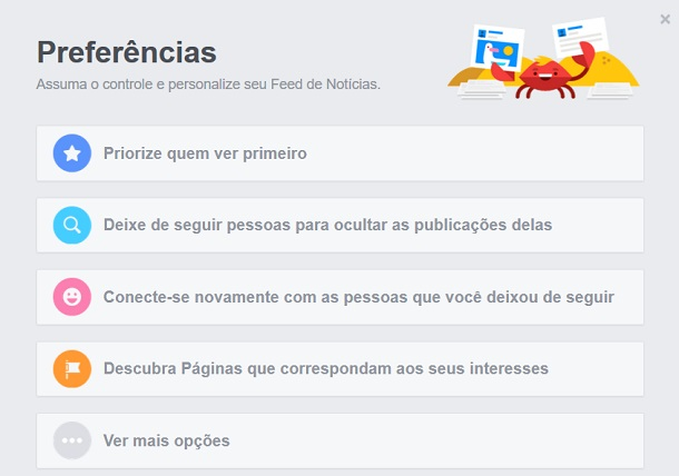 feed de noticias do facebook