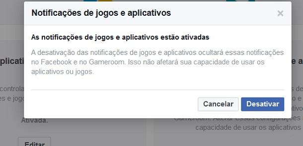 notificações do facebook
