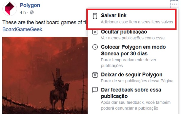 salvar no facebook