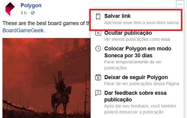 salvar no facebook