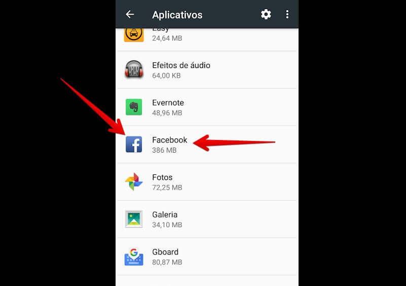 app-do-facebook-menu