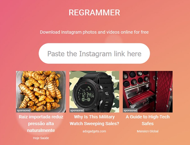 downloading videos on Instagram with Regrammer