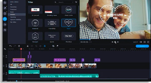 tela de edição do Movavi, um dos melhores programas para PC