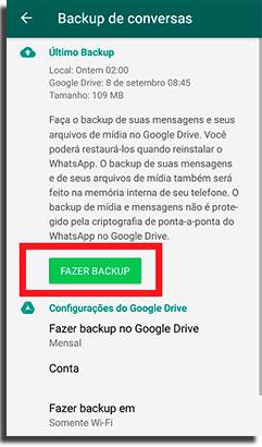 arquivar conversas do whatsapp backup