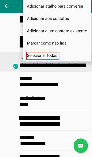 opções do whatsapp