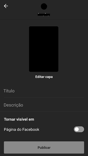 publicar video no igtv