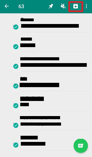 selecionar conversas do whatsapp