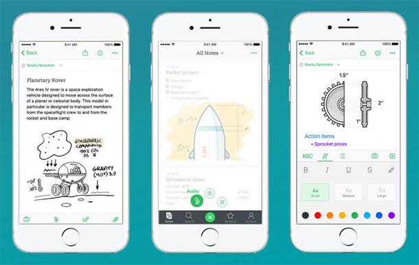 aplicativos-para-designers-iphone-evernote