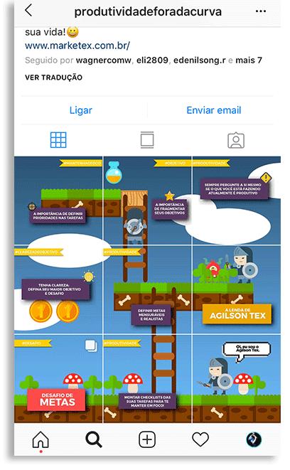 exemplo mosaico Instagram