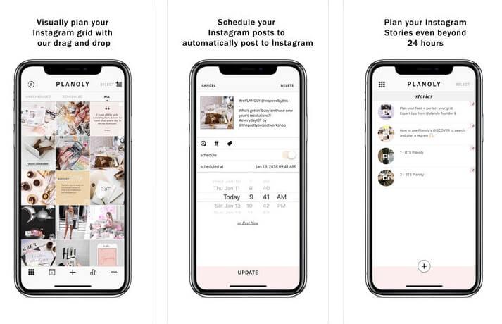 organizar o feed do Instagram aplicativos