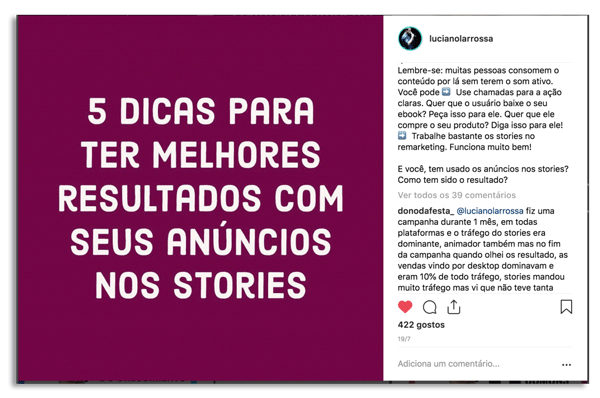 posts instagram perguntas