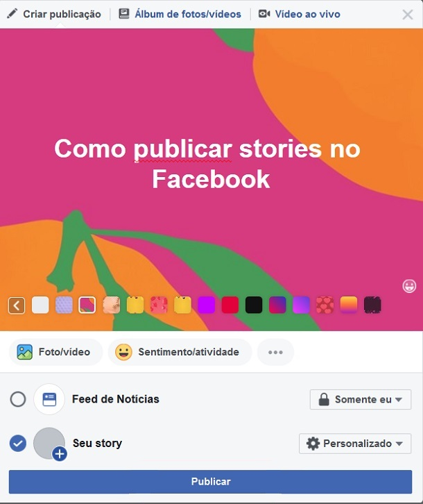 postar-facebook-stories-no-pc-publicar