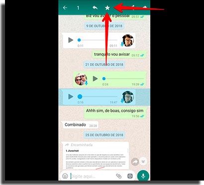acelerar audios do whatsapp favoritar