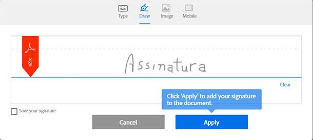apps para assinar documentos adobesign