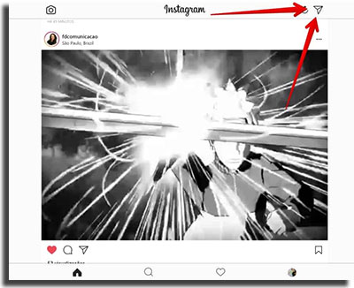 Instagram Direct No Computador