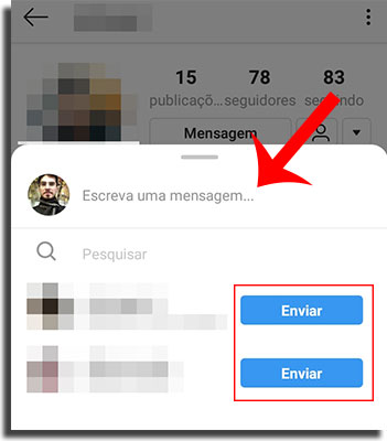 Instagram Direct Compartilhar Perfil 3