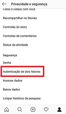 instagram-autenticação-de-dois-fatores
