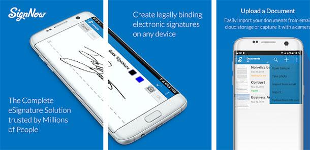 apps para assinar documentos signnow