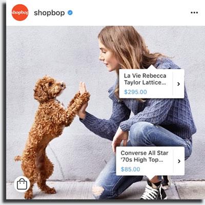 Instagram Shopping Marcar Produtos