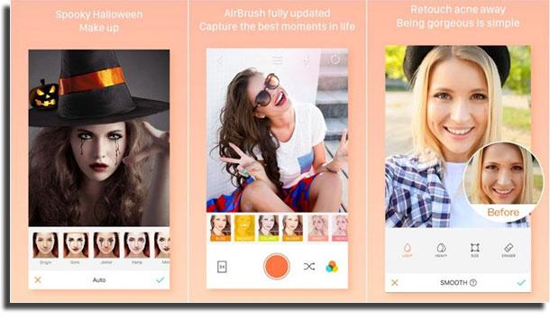 apps para mudar o rosto airbrush