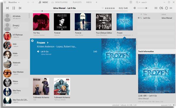 aplicativos de musica musicbee