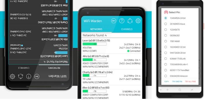 aplicativos para descobrir senha de WiFi no Android warden