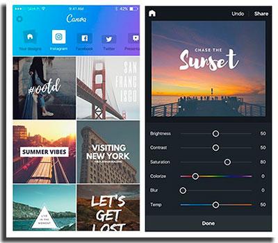 aplicativos para facilitar o trabalho de designer canva