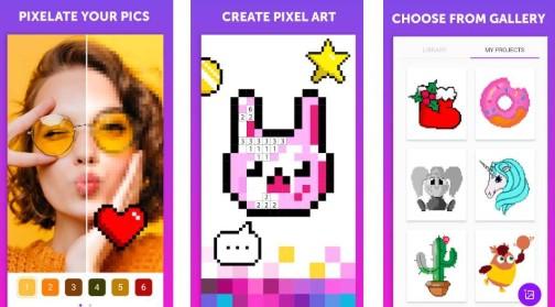 trabalhe com pixels com esse aplicativo