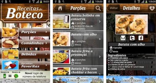 apps de receitas culinarias boteco