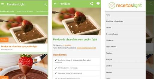 apps de receitas culinarias light