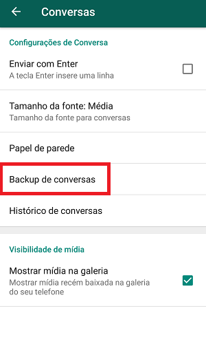 backup do whatsapp